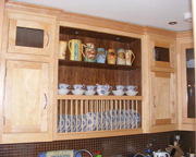 Traditional kitchen in maple and walnut